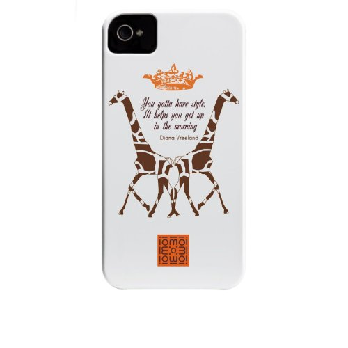 Case-mate iomoi Barely There Designer Cases for Apple iPhone 4/4s - Monkey with Umbrella Two Giraffes