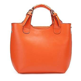 Sac à Main Cuir Orange Sac à Main Cuir Femme Maroquinerie Sac Bandoulière
