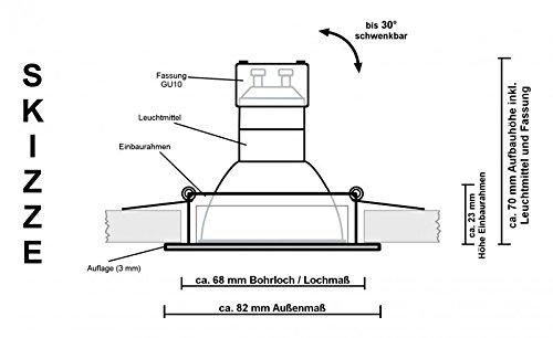 10er LED Einbaustrahler - 4