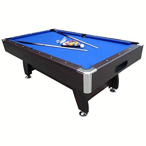 Feelcomfort Billardtisch Nebraska 8ft (Blau/Schwarz) Pool Snooker inklusive Zubehörset