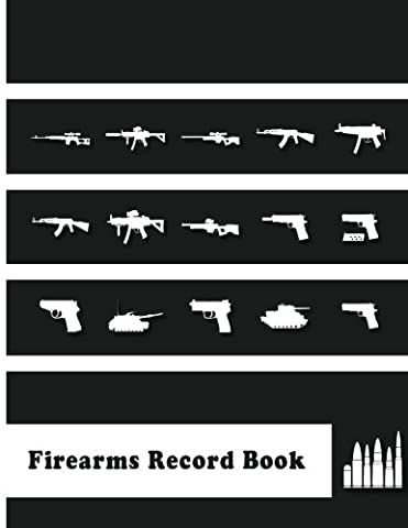 "Firearms Record Book: 8.5x11"" 154Pages A handy and very detailed Firearms Record book Acquisition and Disposition Record Book"
