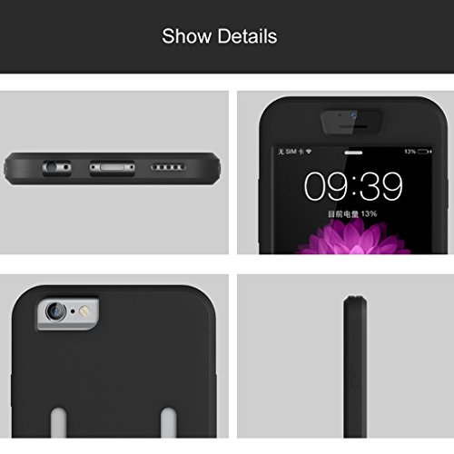 Phone case & Hülle Für IPhone 6 Plus / 6s Plus, Dual Control Sport Armband mit abnehmbarem Premium Silikon Tasche ( Color : Pink ) Black