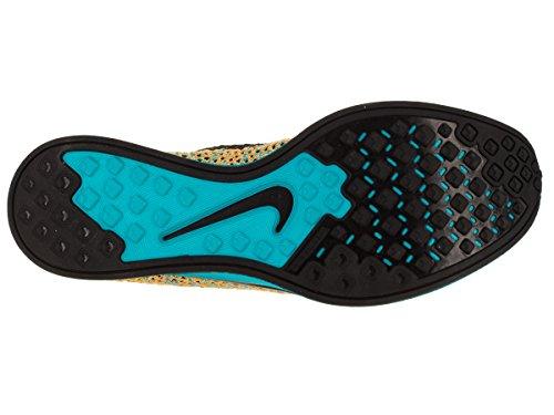 Unisexe Flyknit Racer Running Shoe Bright Citrus/Blue Lagoon/Laser Orange/Black