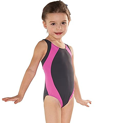 Shepa Kinder Badeanzug Schwimmanzug pink grau 140