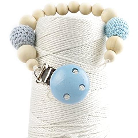Mordedor de madera de los granos Chupete Mental Clip bebés Shower colgantes de la categoría alimenticia del bebé regalo respetuoso del medio ambiente del bebé juguete de la