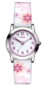 s.Oliver - SO-2898-PQ - Montre Fille - Quartz Analogique - Bracelet Silicone Multicolore