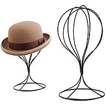 74469a2d805ec A-SZCXTOP - Soporte de metal resistente para sombrero (soporte de alambre  independiente para