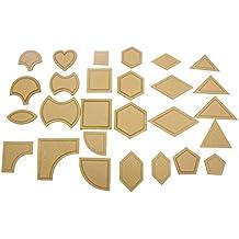 TOOGOO 54pzs Juego de herramientas de costura regla de almazuela Plantillas acolchadas de acrilico plantilla de