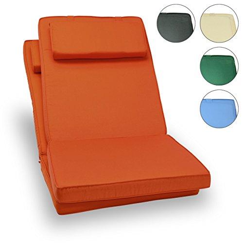 Nexos Divero Sitzauflage Stuhlkissen Sitzpolster 2er-Set für Gartenmöbel wie Hochlehner...