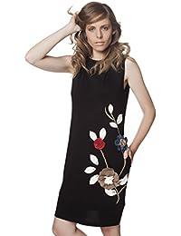 Mamatayoe Aurora, Vestido Casual para Mujer, Negro, XL