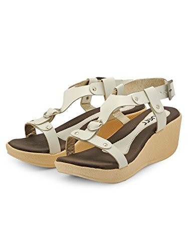 Nell Women White Solid Wedges ( Size-37)  available at amazon for Rs.345