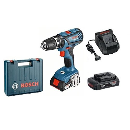 Preisvergleich Produktbild BOSCH Perceuse a percussion GSB18-2-LI plus avec 2 batteries 18V 1,5Ah Li-ion et coffret de transport