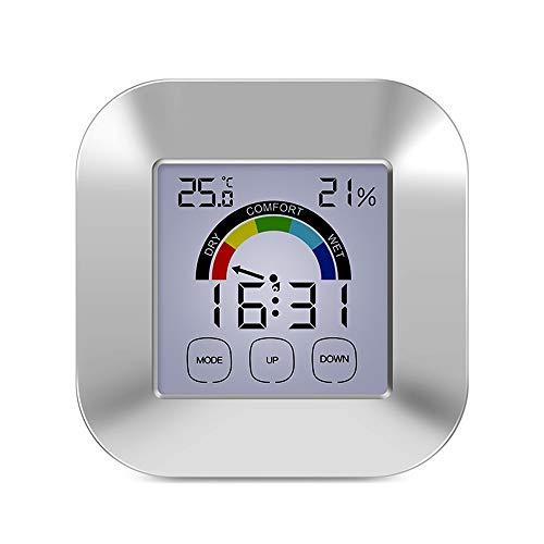 CWC Higrómetro Digital Termómetro, Cubierta y al Aire Libre Termómetro con Pantalla LCD, Pantalla...