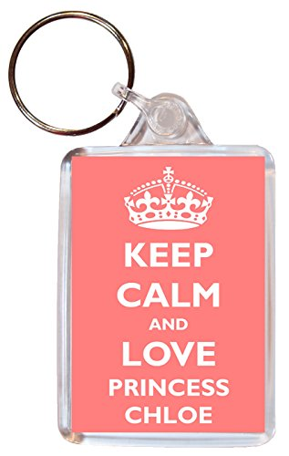 keep-calm-and-love-princess-chloe-double-sided-large-keyring-gift-present-girl-girls-name-tag-souven