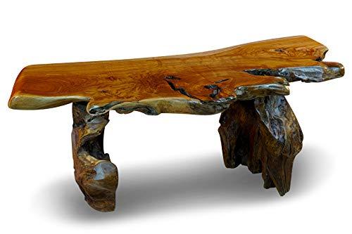Mesa de centro de madera de tronco de Teca