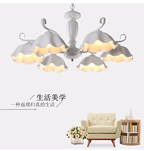 41f3eqaPvgL BEST BUY #1GQLB Iron Art Suction Lift Two Lamps Used Six Head Ceramic Lamps ,750*300Mm, Is White price Reviews