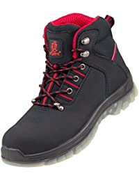 Nubuck Lightweight Urgent Men's Safety Boots Workwear Anti Static Slip Resistant Steel Toe Cap Hiker Size 124 S1 Black