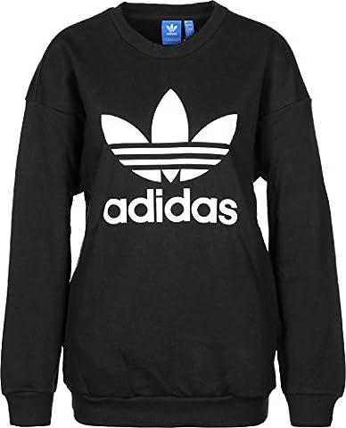 Adidas trefoil Sweat Pull, femme, Trefoil Sweat, noir