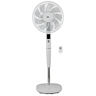 Ansio DC Pedestal Fan with Remote, 16 inch/40.6cm, White