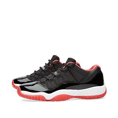 Nike Air Jordan 11 Retro Low Bg, Chaussures de Sport-Basketball Garçon, Gris Noir / rouge / blanc (noir / vrai rouge - blanc)