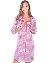 2092c0a2d5be2 Mija - 2 in1 Maternity & Nursing/Breastfeeding 100% Cotton Nightdress 4016