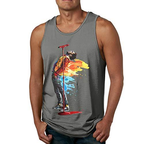 Abigails Home Kid-Cudi- Herren Tank Top ärmellose Hemden T-Shirt Basketball Sport T-Shirt T-Shirts Outdoor Fitness(L,Deep Heather) -