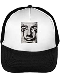 939358a266a7c Salvador Dali Famous Photo Gorras Hombre Snapback Beisbol Negro Blanco One  Size