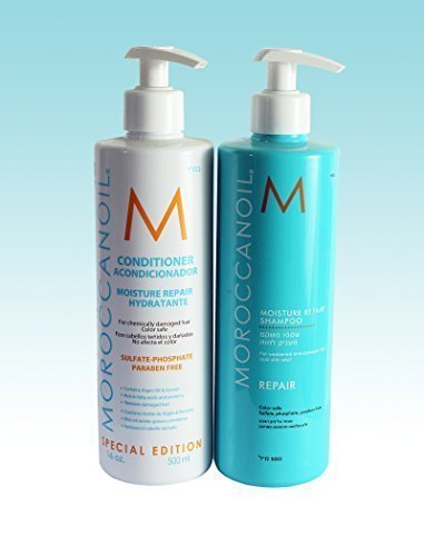 Moroccan Oil Limited Edition 500ml Set - Moisture Repair Shampoo 500ml & Moisture Repair Conditioner 500ml