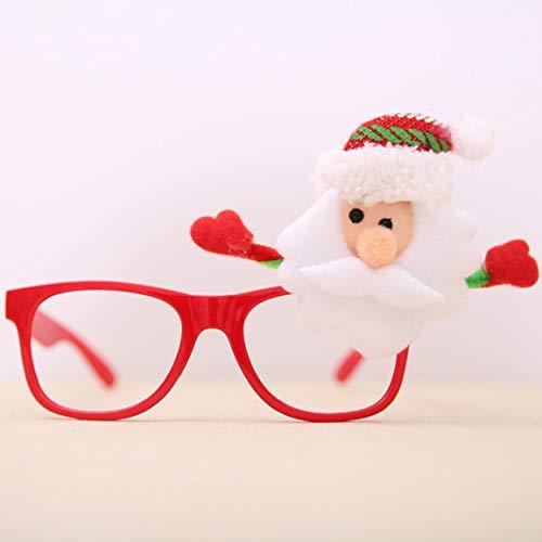Fantasyworld Ornamente Rahmen Gläser Weihnachtsmann-Glas-Brille-Kostüm-Party-Dekoration Glas-Rahmen für Erwachsene Kinder
