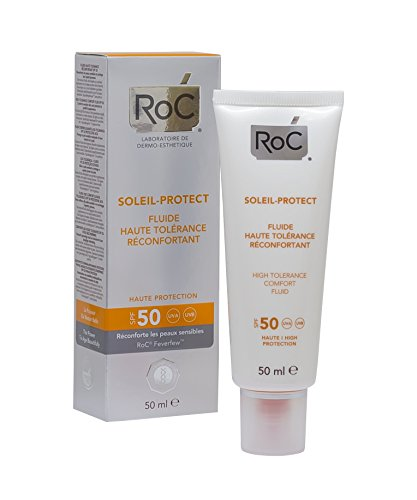 ROC Soleil Protect - Fluido Dermocalmante, Alta Tolerancia, SPF50, 50 ml