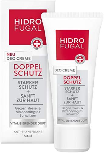 Hidrofugal Doppelschutz Deo Creme im 6er Pack (6 x 50 ml), Deodorant gegen hitze- und stressbedingtes Schwitzen, Antitranspirant mit vitalisierendem Duft -