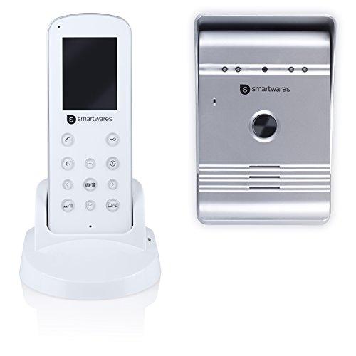 Smartwares Drahtlose Videotürsprechanlage mit Nachtsichtfunktion und Bildaufnahme, Funkreichweite bis zu 175 m, VD36W