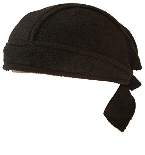 4 x Bandana Mütze Biker Tuch Kappe Kopftuch Headwrap schwarz fleece uni ovp.NEU! Headwrap Tuch