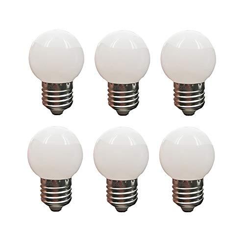 LED G45 Glühbirne 1W Warmweiß 3000K Nicht dimmbar LED Energiesparlampen 10 Watt Entsprechende LED-Lampen für zu Hause E27 6er Pack -