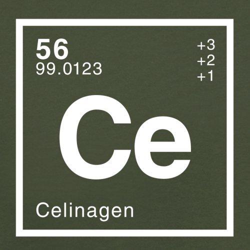 Celina Periodensystem - Herren T-Shirt - 13 Farben Olivgrün