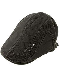 beb4e4ad0fa12 Homyl Vintage Cotton Flat Cap Hat Ivy Gatsby Newsboy Hat Irish Cabbie Hat  For Men