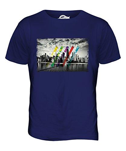 CandyMix Chicago Skyline Herren T Shirt Navy Blau