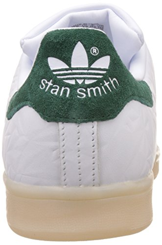 adidas Stan Smith, Sneakers Basses Homme Blanc (Ftwwht/ftwwht/cgreen)