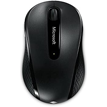 Microsoft Wireless Mobile Mouse 4000 - Ratón (RF inalámbrico, BlueTrack, Alcalino, Negro, AA, Windows 7 Windows Vista Windows XP Mac: OS X v10.2-10.5)