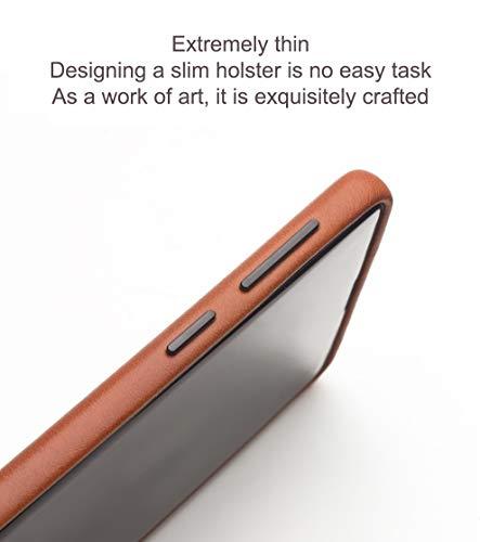 COVO® Coque Samsung Galaxy S10 Plus,Coque arrière pour Affaires Classique,Fait à la Main Etui Premium en Cuir de Vache Coques arrière pour S... 8