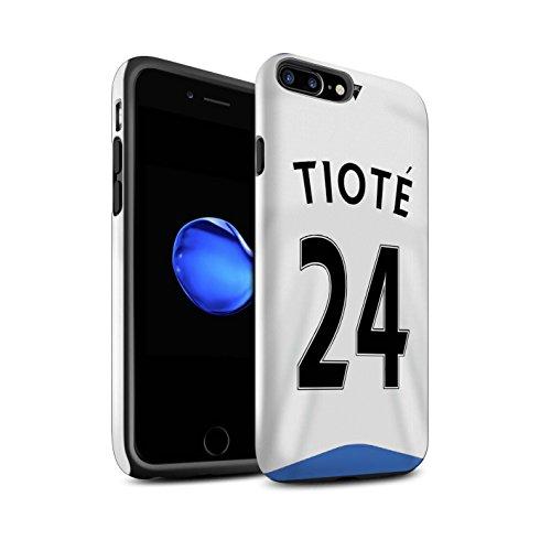 Officiel Newcastle United FC Coque / Brillant Robuste Antichoc Etui pour Apple iPhone 7 Plus / Rivière Design / NUFC Maillot Domicile 15/16 Collection Tioté
