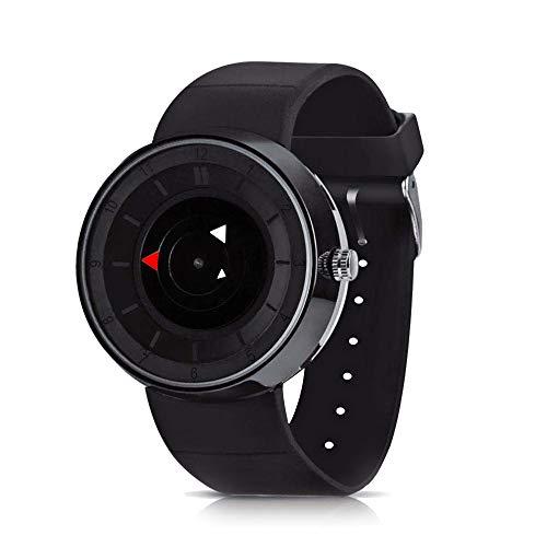 CFGem Herren Uhr Zeiger Quarz Wasserdicht mit Silikon-Gummi Armband PRM-3508 Schwarz