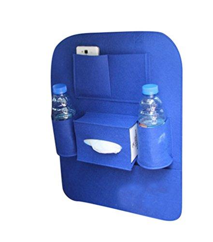 Preisvergleich Produktbild Lumeidon Multifunktions Auto Rücksitztasche Organizer Wolle Filz Auto Rücksitz Organizer Auto Liefert Aufbewahrungsbox Taschen Blau 41cm*56cm