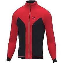Softshell viento stoper bicicleta de carretera bicicleta Ciclismo chaqueta Top Térmico Completo saleeve, color rojo, tamaño XL