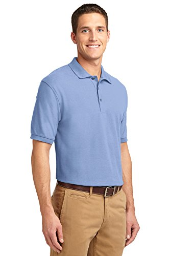 Hafenbehörde Men's hoch mit Silk-Touch-Polo Blau - Hellblau