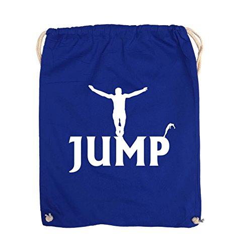 Borse Comiche - Jump - Figure - Turnbeutel - 37x46cm - Colore: Nero / Rosa Royalblue / Bianco