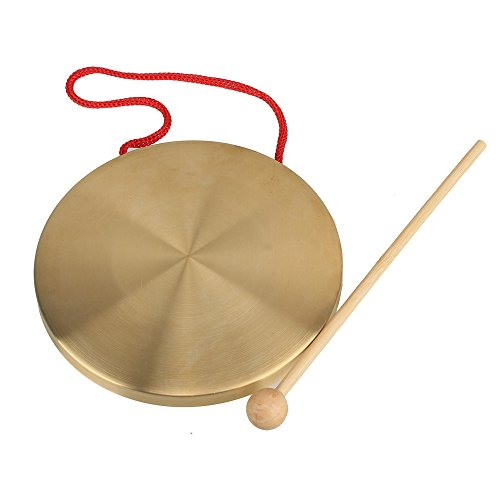 Yibuy 15.5cm Instrumentos cobre amarillo Platillos