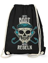 rucksack mit totenkopf motiv