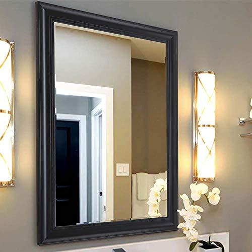 Specchio per il bagno a parete_ cornice rettangolo bagno spogliatoio trucco appeso decorazione della parete specchio fatto a mano in legno massello