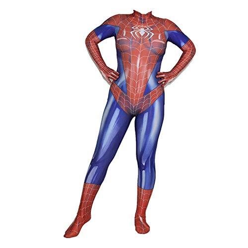 SEJNGF Spider-Man Siamese Bodysuit Mädchen Cosplay Set Halloween Kostüm (ohne Kopfbedeckung),Women-XS